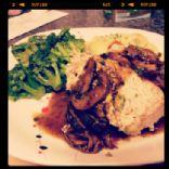 Turkey Meatloaf with Mushroom Gravy