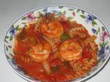 My Trader Joe's Arrabiata Shrimp Pasta