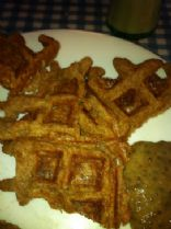 Whole-Wheat Vegan Waffles for One (lowfat)