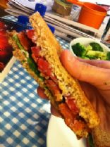 Vegan BLT Sandwich--simple and fast