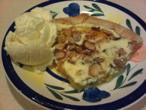 Almond Custard Peach Galette