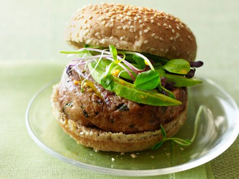 Tuna Burgers with Carrot-Ginger Sauce