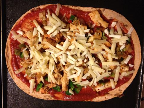 Jim and Angel's Chicken Flat Bread Pizza