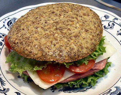 Flax Sandwich Buns (Gluten Free, Low Carb, Grain Free)