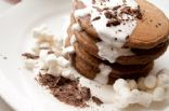 SMores Graham Cracker Pancakes with Marshmallow Sauce