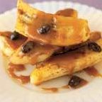 Saut�ed Bananas with Caramel Sauce