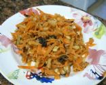 Carrot Apple Salad with Raisins, Nuts & Honey
