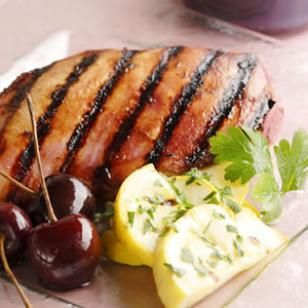 Grilled Chicken with Cherry-Chipotle Barbecue Sauce (Trillium1204)
