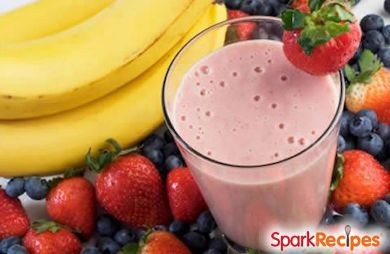 Greek Yogurt StrawberryBanana Smoothie