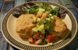 Perch and Corn Patties with Avocado Salsa