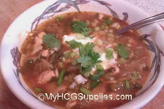 HCG Safe Tortilla Soup