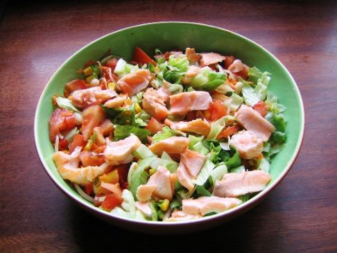 Smoked Salmon Salad on Romaine