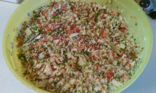 Pico de Gallo (cabbage salsa)
