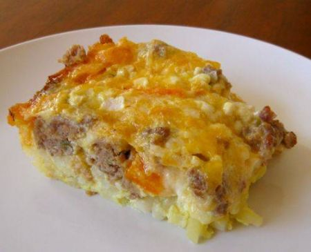 Sausage,Egg,Cheese & Grits Casserole