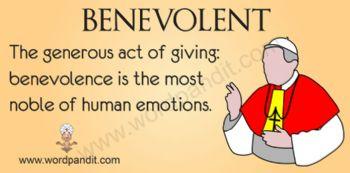 Benevolent person