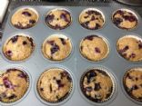 Blueberry whole wheat muffins no butter raw sugar