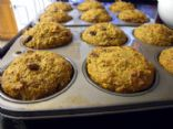 Flax Carrot Raisin Muffins