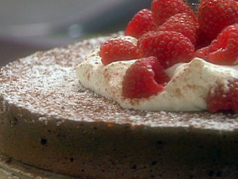 Low Carb Adapted Flourless Dark Chocolate Torte