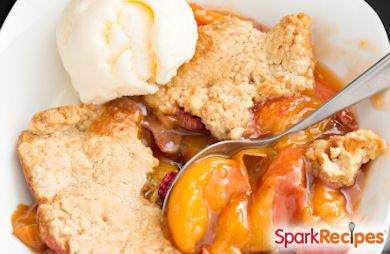 Brown Sugar Peach Shortcake Recipe | SparkRecipes