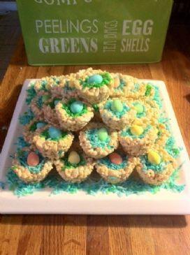 Rice Krispie Mini Egg Nests