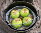 Dutch Oven Baked Caramel Apples
