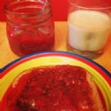 Strawberries and Raspberry Jam