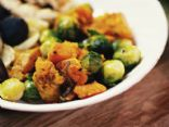 Roasted Sweet Potatoes with Brussels Sprouts