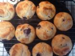 Blueberry Bisquick Yogurt Muffins