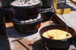 dutch oven blueberry strawberry cobbler