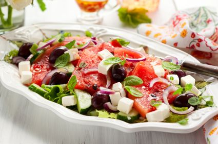 Easy Watermelon & Feta Salad