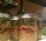 Mediterranean Quinoa Salad in a Jar