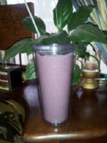 Cat's blueberry banana smoothie