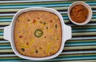 Sweet and Spicy Cornbread with Chipotle-Honey Butter