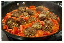 Turkey Meatballs  W/Hearty Tomato Sauce