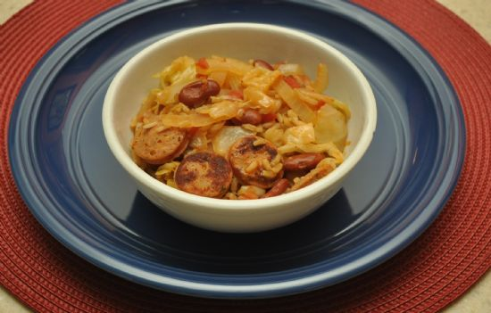 Sausage, Cabbage & Beans