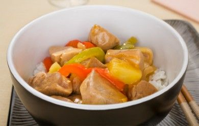 Apple and Pork Stir-fry with Ginger