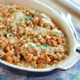 Moroccan Chicken Thighswith Chickpeas and Cumin