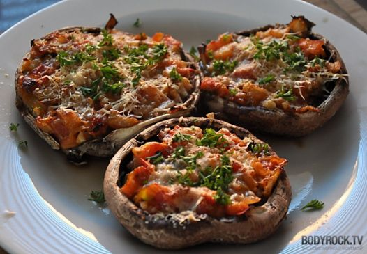 Healthy Portobello Pizza Recipe | SparkRecipes