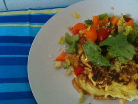 Cheese Omelette with milk